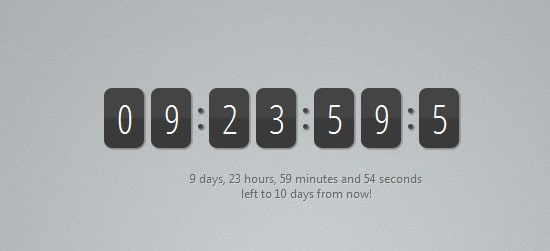Making a jQuery Countdown Timer