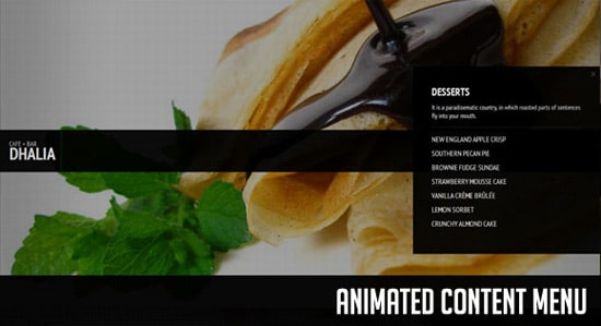 Animated Content Menu with jQuery
