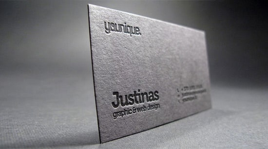Black Letterpress Business Card