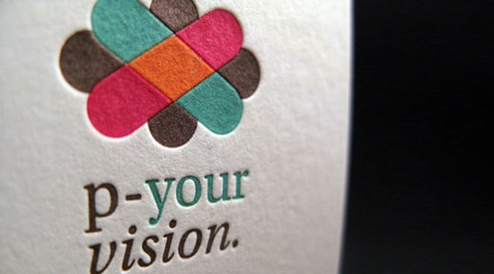 Four Color Letterpress Business Card
