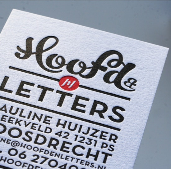 Business cards Hoofd&Letters