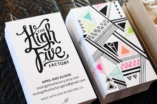 50 new inspiring business card designs designrfix the high five factory reheart Images
