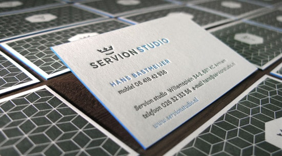Double Sided Letterpress Business Card