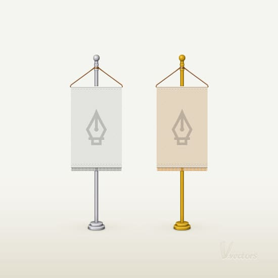 How to Create a Detailed Flag Stand Illustration in Adobe Illustrator