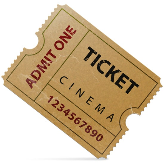How to Illustrate an Old Cinema Ticket