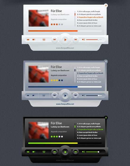 Music Player PSD Mockup | Free PSD Files