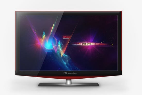 Mockup LCD TV