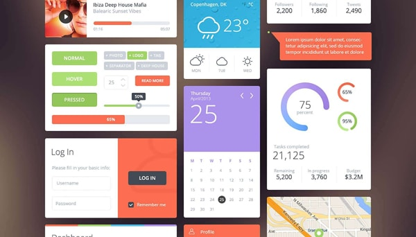 Free Download: Flattastic UI kit