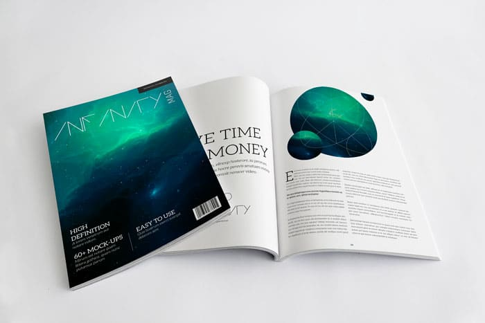 Infinity - Magazine Mockup