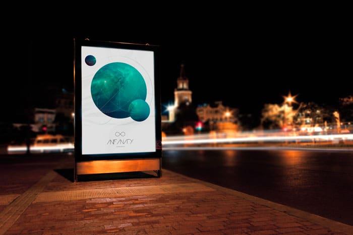 Infinity - Mupi Billboard Mockup