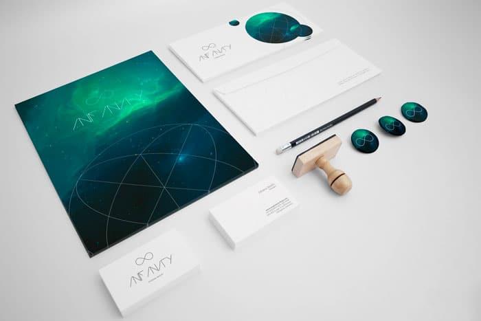 Infinity - Stationery Mockup