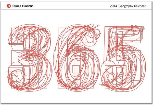 2014 Typography Calendar
