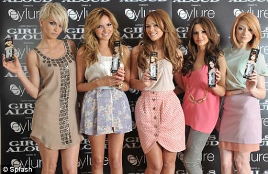 Girls Alouds' Celebratory Eyelashes