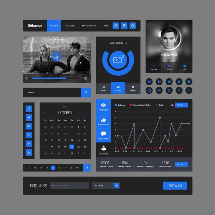 iOS 7 Weather App Design(PSD)