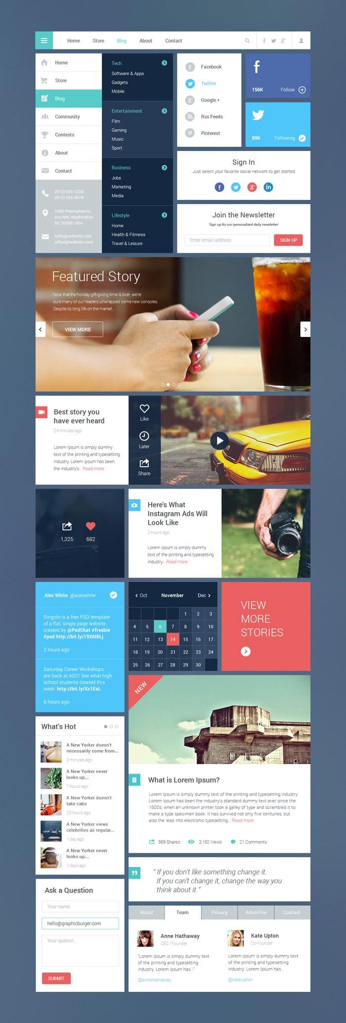 Blog / Magazine UI Kit #2