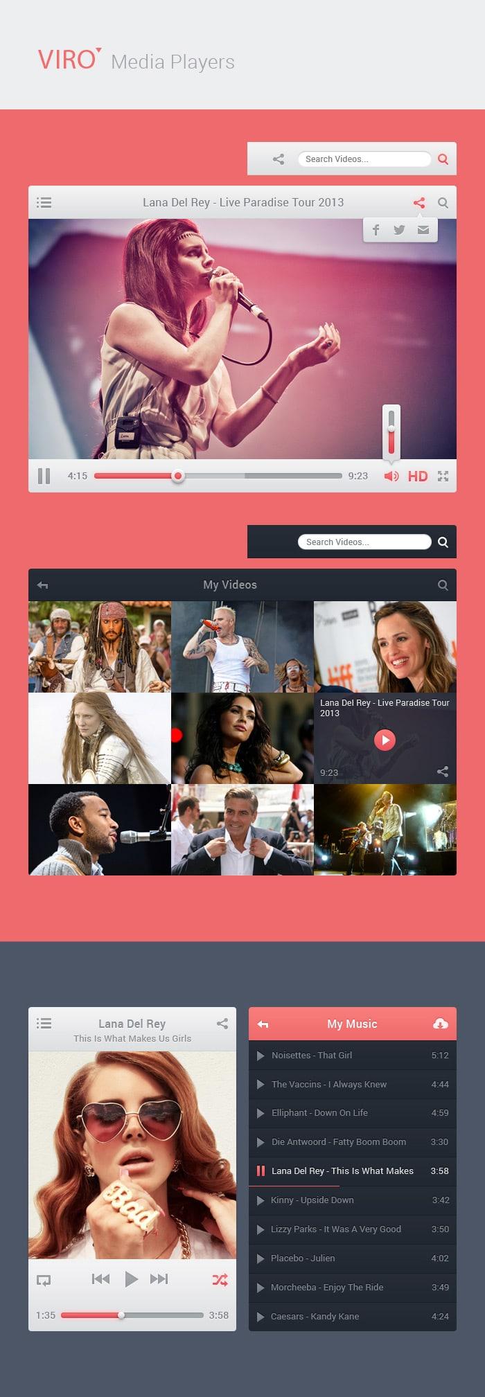 Viro Media Players UI
