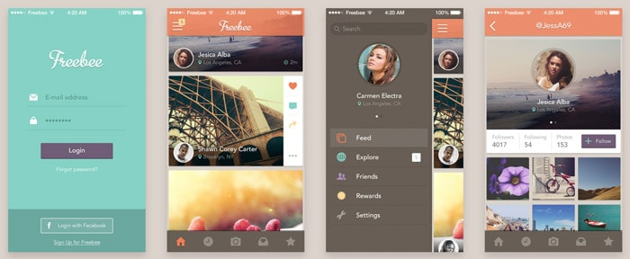 Freebee App: Free PSD