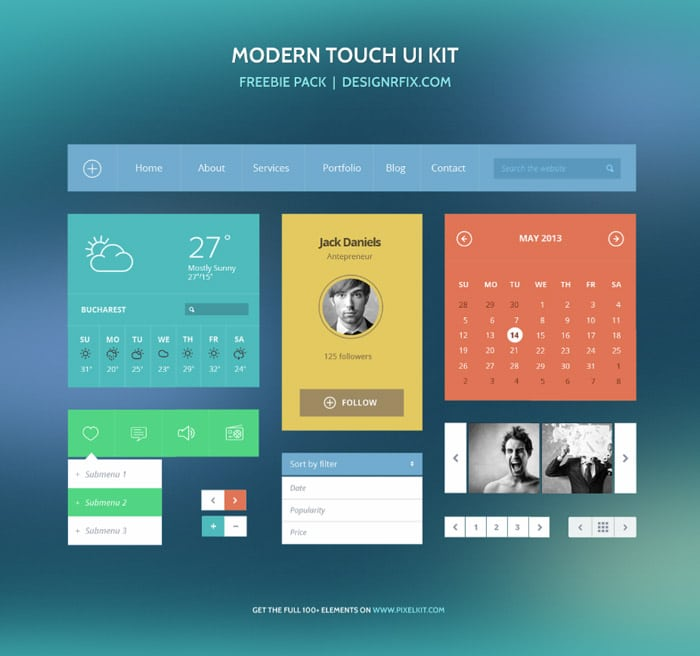 Free Download: Modern Touch UI Kit