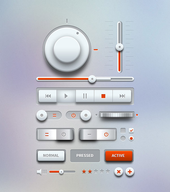 Light Music UI Design Kit