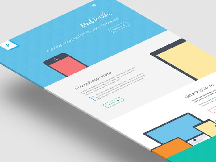 Perth - A Free Flat Web Design