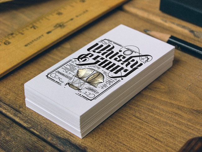 Awesome examples of business card design designrfix letterpress business cards colourmoves