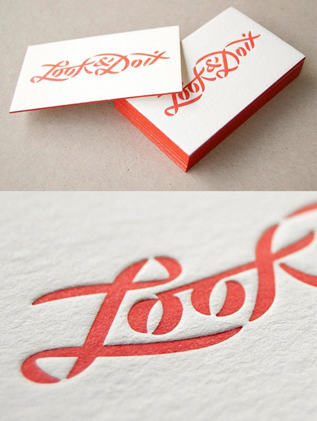 Awesome examples of business card design designrfix bright red edge painted minimal business card colourmoves