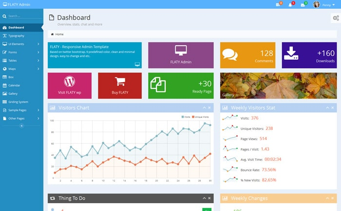 40 premium admin dashboard templates