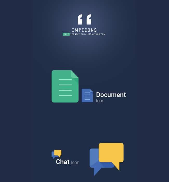 IMPICONS – Modern Flat style Free Icon Set