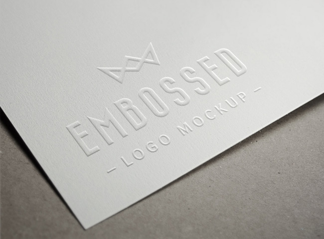 60 must have free psd mockup templates designrfix embossed paper logo mockup pronofoot35fo Gallery