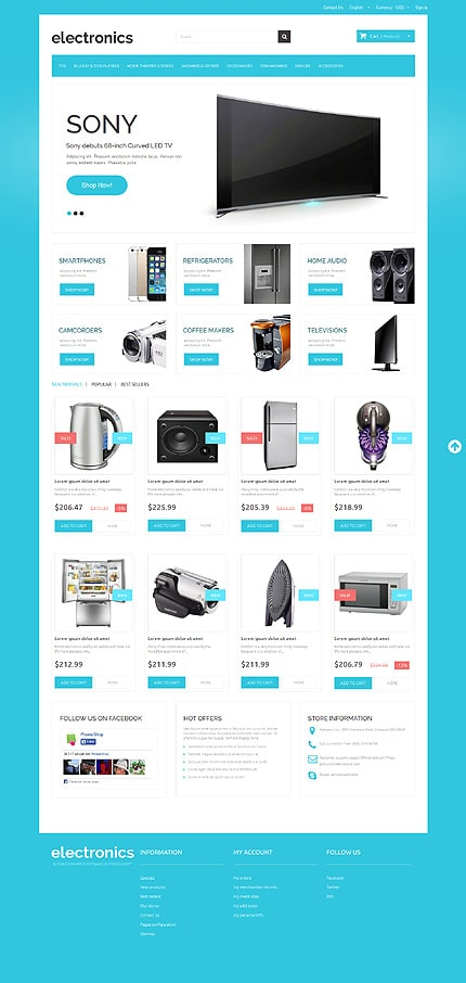 Home Electronics PrestaShop Theme