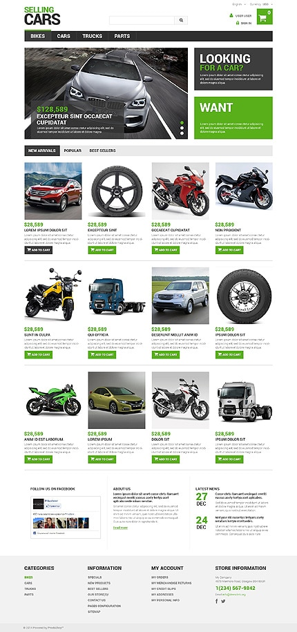 Selling Cars PrestaShop Theme