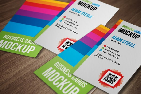 12 free business card mockups designrfix i loved the color selection for this one if youre looking for a vertical business card design this mock up just might be the one for you reheart Gallery
