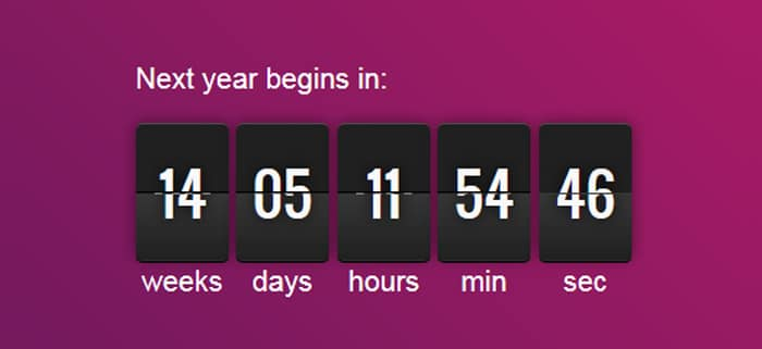 Freebie: 20 CSS3 And JQuery Countdown Timer Scripts - designrfix com