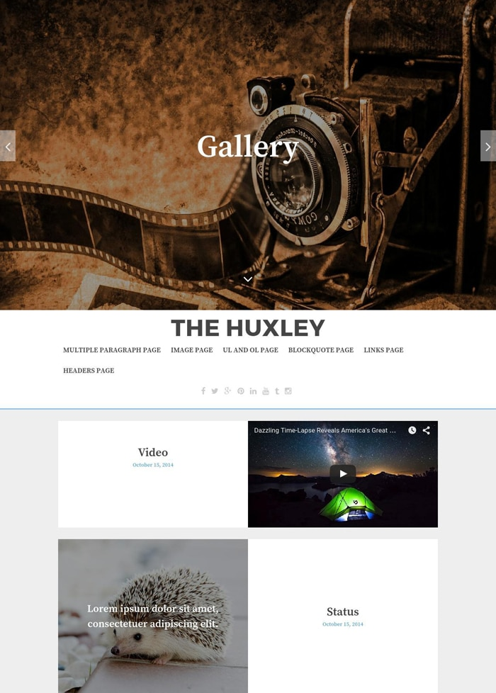 16-huxley-free-wordpress-theme