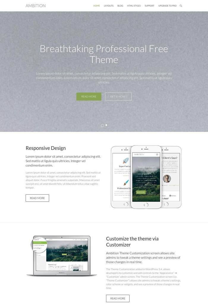 18-ambition-free-wordpress-theme