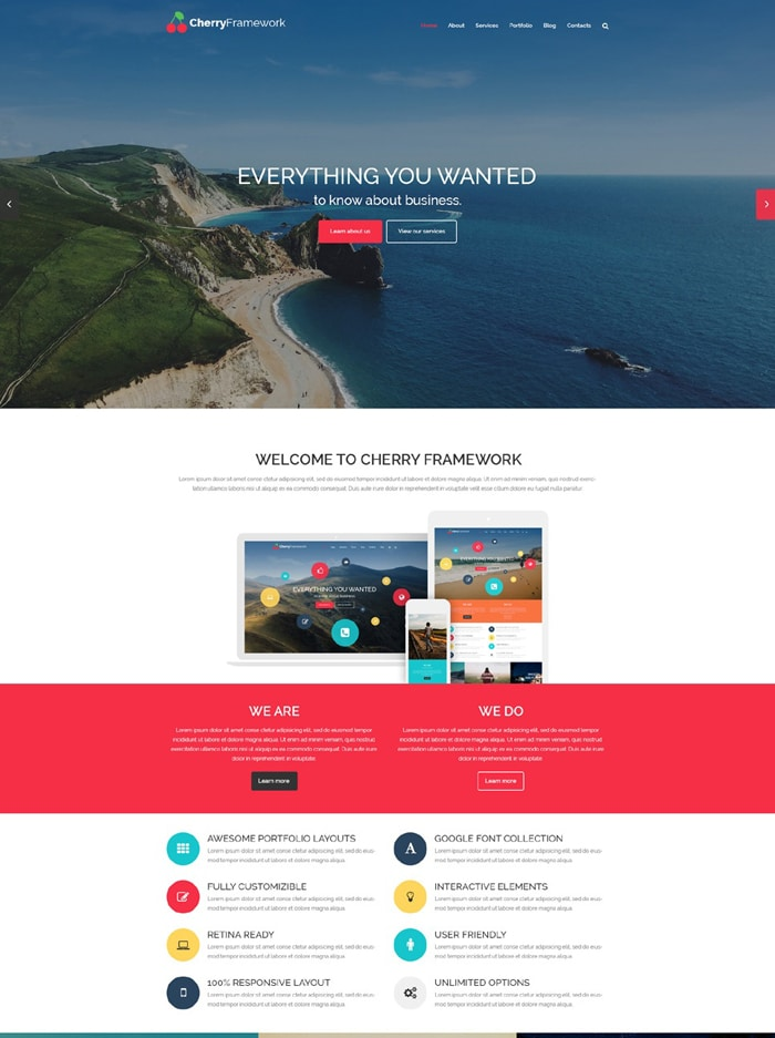 2-cherry-framework-free-wordpress-theme