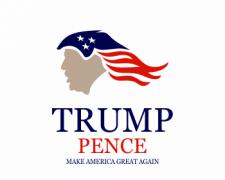trump hair logo