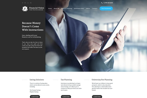 23-financial-vision-bootstrap-wordpress-theme