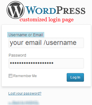 login-page-after-installing-wp-email-login