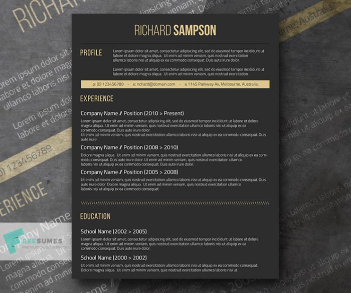 dark-resume-design