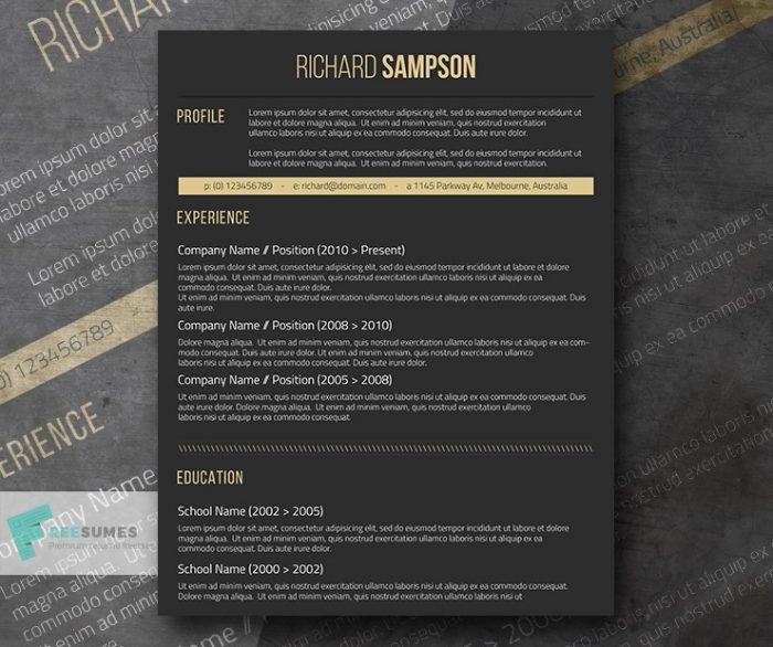 dark-resume-design