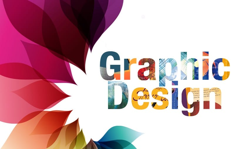 Here is the words Graphic Design next to a pattern designed by a graphic designer.