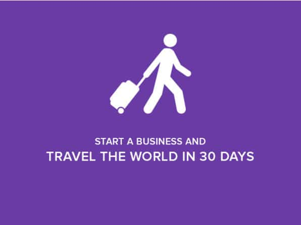 Start a Business and Travel the World in 30 Days