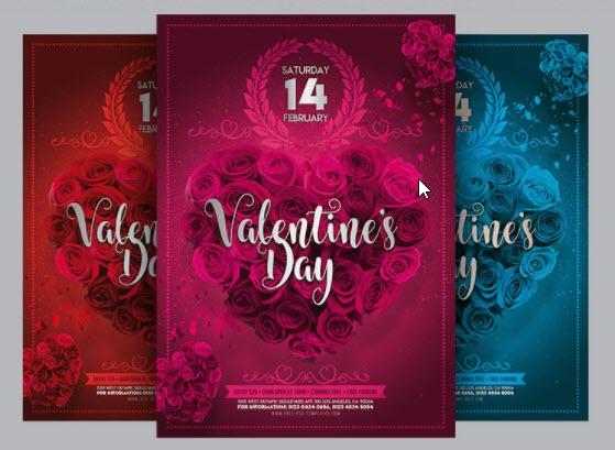 25 Free and Creative Valentine's Day Design Templates for