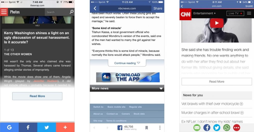 Best Examples Of Read More Buttons For Web Designers And